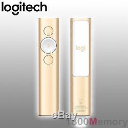GENUINE Logitech Spotlight Advance Wireless Remote Presenter USB Bluetooth Gold