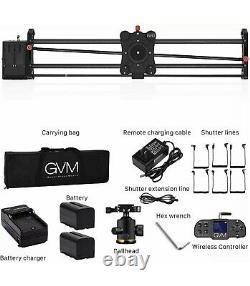 GVM Wireless Video Carbon Fiber Motor Camera Slider Rail Bluetooth Remote 32inch