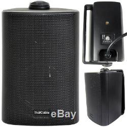 Garden Party/BBQ Outdoor Speaker KitWireless Mini Stereo Amp & 4 Black Speakers