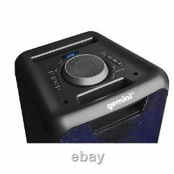 Gemini Audio GLS-880 Big Wireless Bluetooth LED Lights Party Speakers Mic Remote