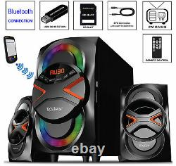 Home Theater Stereo Audio System Sound Speakers Bluetooth USB Wireless Remote C