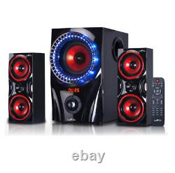 Home Theater Stereo Audio System Sound Speakers With Remote Wireless Bluetooth USB
