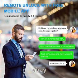 Hugolog Smart Lock, Touchscreen Deadbolt Remote Wireless Control & Bluetooth and