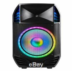 ION Bluetooth Speaker LED Light with Microphone, Stand & Wireless Remote 500W