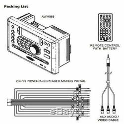 JENSEN AWM968 AM/FMCDDVDUSBAUXRCABluetooth Stereo with Wireless Remote RV