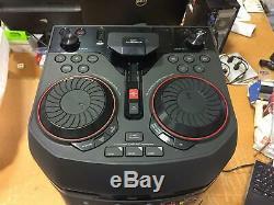 LG OK55 LOUDR 500W Party Speaker System Karaoke DJ Effects NO REMOTE FM ANTENNA