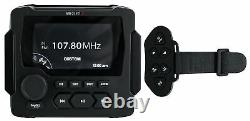 MB Quart GMR-LED Marine Receiver withBluetooth/FM/Weather Band/USB+Wireless Remote