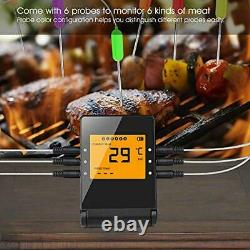 Meat Thermometer, Wireless BBQ Thermometer Bluetooth Smartphone Remote Monitor