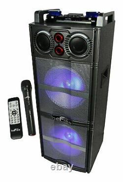 New Bluetooth Wireless Speaker LED Woofers FM Radio AUX-IN MIC Remote USB/SD