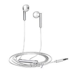 New Huawei In-earphones With Remote Control And Microphone Silver White
