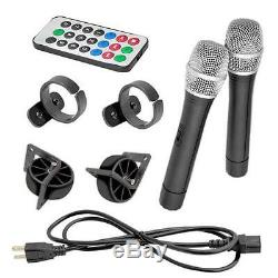 New PPHP159WMU 1600W Bluetooth PA speaker System & 2 Wireless Microphones/Remote