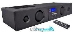 New Pyle PSBV200BT 300W Bluetooth Soundbar Speaker USB/SD AUX FM Radio & Remote