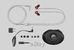 New Shure SE535LTD SE535 LTD Limited Red Isolating Earphones Headphones Remote