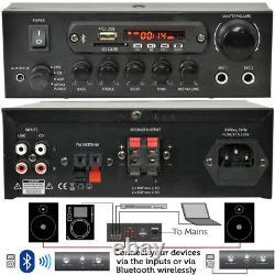 Outdoor Bluetooth Black Speaker Kit SMART HOME Karaoke/Stereo Amp Garden BBQ