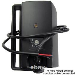 Outdoor Bluetooth Speaker Kit 4x Black Karaoke/Stereo Amp Garden BBQ Parties