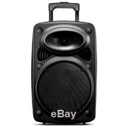 Portable Bluetooth PA Speaker System 12 Remote DJ Speaker 1500W Wireless Mic