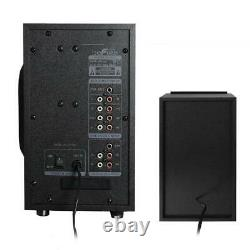 Portable Bluetooth Speaker Wireless 5-Speakers Remote Control Battery Black
