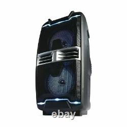 Portable Party Speaker Wireless Bluetooth FM Radio Remote Control Led Lights LF