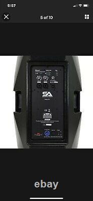 Powered 15 In DJ/PA Speaker W Bluetooth Mixer, Amp Wireless Mic Remote DSP