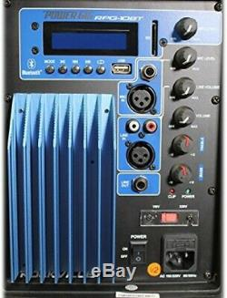 Powered DJ PA Speaker Blue Tooth Wireless 10 Inch 600W USB SD Remote Control Blk
