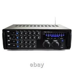 Pyle 1000 Watt Bluetooth Wireless Stereo Mixer Karaoke Amp Amplifier No Remote