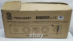 Pyle 300 Watt Bluetooth Soundbar PSBV200BT USB/SD/FM Radio Wireless Remote Black