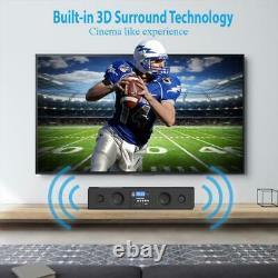 Pyle Home Theater 300-Watt Bluetooth Sound Bar withUSB/SD/FM Radio Wireless Remote