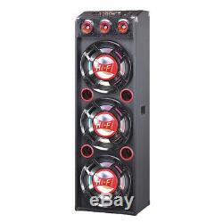 QFX 3 12 PA Speaker System 4000W Bluetooth USB SD Player FM Remote EQ