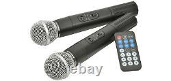 QTX QX12PA BLUETOOTH Portable PA System Wireless Mics USB SD FM Remote 178.853
