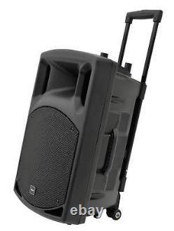 QTX QX15PA Bluetooth Portable PA System with 2 Wireless Mics SD USB FM Remote