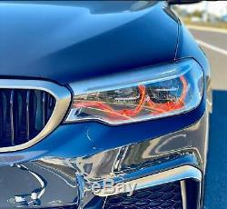 RGBW LED Angel Eye Halo DRL 4 BMW 2011-17 F10 F11 5 Series Xenon HID Bluetooth