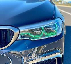 RGBW LED Angel Eye Halo DRL 4 BMW 2015-18 F80 F30 F31 3 Series LED HID Bluetooth