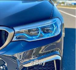 RGBW LED Angel Eye Halo DRL 4 BMW 2018-19 G30 G31 5 Series LED HID Bluetooth