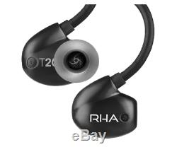 RHA T20i High Fidelity Dual Coil In-Ear Headphone Black with remote and micropho