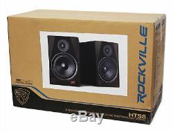 Rockville Pro Karaoke Machine System withBluetooth+LED's+(2) Wireless Mics+Remote