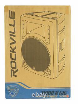 Rockville RPG10BT V2 10 Powered 600W DJ PA Speaker BlueTooth/Wireless/Remote/EQ