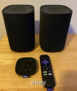 Roku TV 9030x Wireless Bluetooth Speakers with Tabletop Remote and Voice Remote
