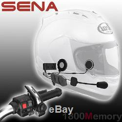 Sena 10R Low Profile Motorcycle Helmet Bluetooth Headset FM with Remote Control