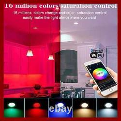 Smart LED Recessed Downlight W Remote Control & Bridge 10Pcs Wireless Bluetooth