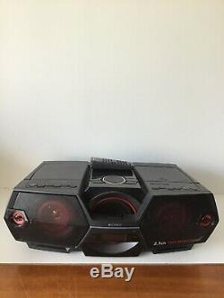Sony ZS-BTG900 Portable NFC Bluetooth Wireless Boombox Speaker System With Remote