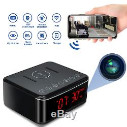 Spy Camera-Remote WIFI Hidden Camera/Wireless Charge/Bluetooth Speaker/Alarm 32G