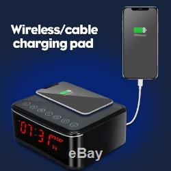 Spy Camera-Remote WIFI Hidden Camera/Wireless Charge/Bluetooth Speaker/Alarm Clo