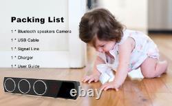 Spy Hidden Camera HD 1080P Bluetooth Speaker Night Vision Remote live-streaming
