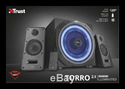 Trust Gxt688 Torro 120w Light Up 2.1 Speaker System With Wireless Remote Control