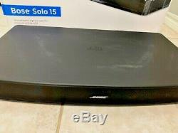 Used Factory Renewed Bose Solo 15 TV Sound System Black Remote Cables