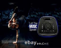 VIDVIE Portable Wireless Bluetooth Party Speaker With Microphone And Remote