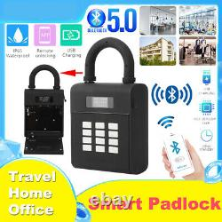 Wireless Bluetooth5.0 Door Lock Keyless Padlock Password Phone Remote Control