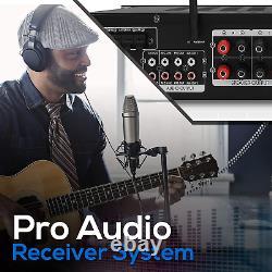 Wireless Bluetooth Home Stereo Amplifier Hybrid Multi-Channel 3000 Watt Power