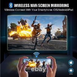 Wireless Bluetooth Projector 4K Full HD 8500 Lumens 1080P Home Movie Video LCD