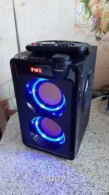 Wireless Speaker 20W Portable FM Radio Remote Control Bluetooth Music Player